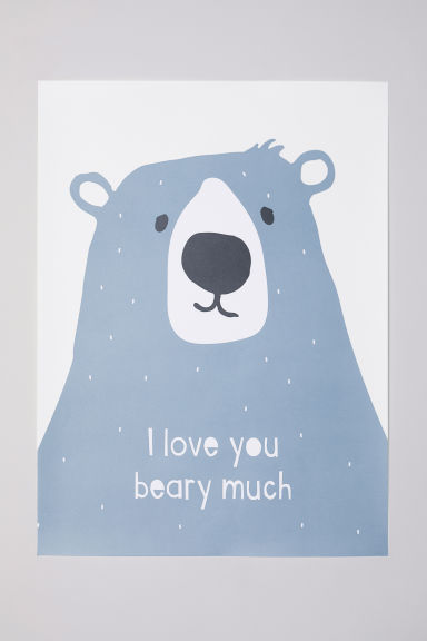 Poster - Blue/bear - Home All | H&M US