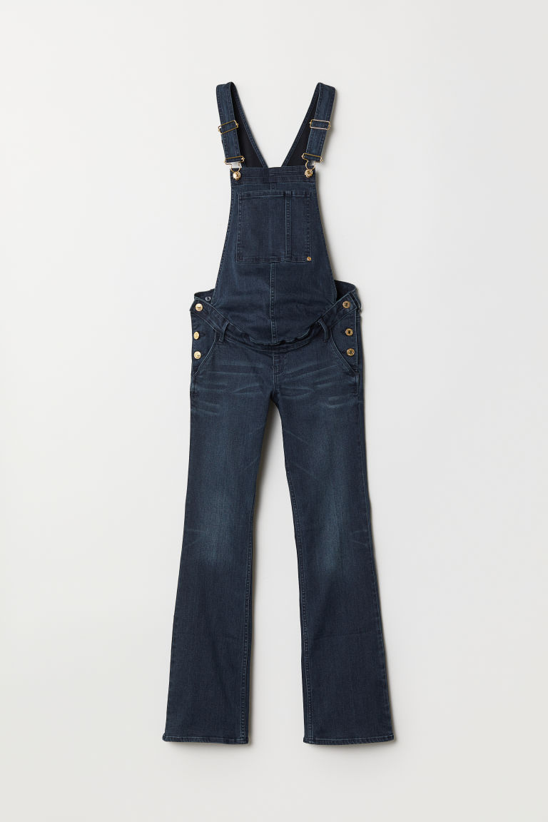 MAMA Denim dungarees - Dark denim blue - Ladies | H&M CN