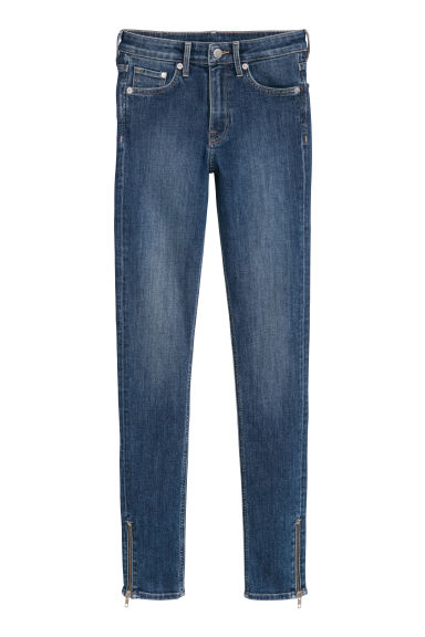 Skinny Regular Zip Jeans - ダークブルーデニム -  | H&M JP