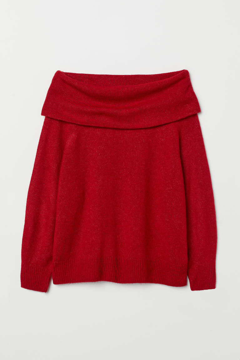 H&M+ Knitted jumper - Red marl - Ladies | H&M