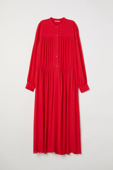 Wide maxi dress - Bright red - Ladies | H&M
