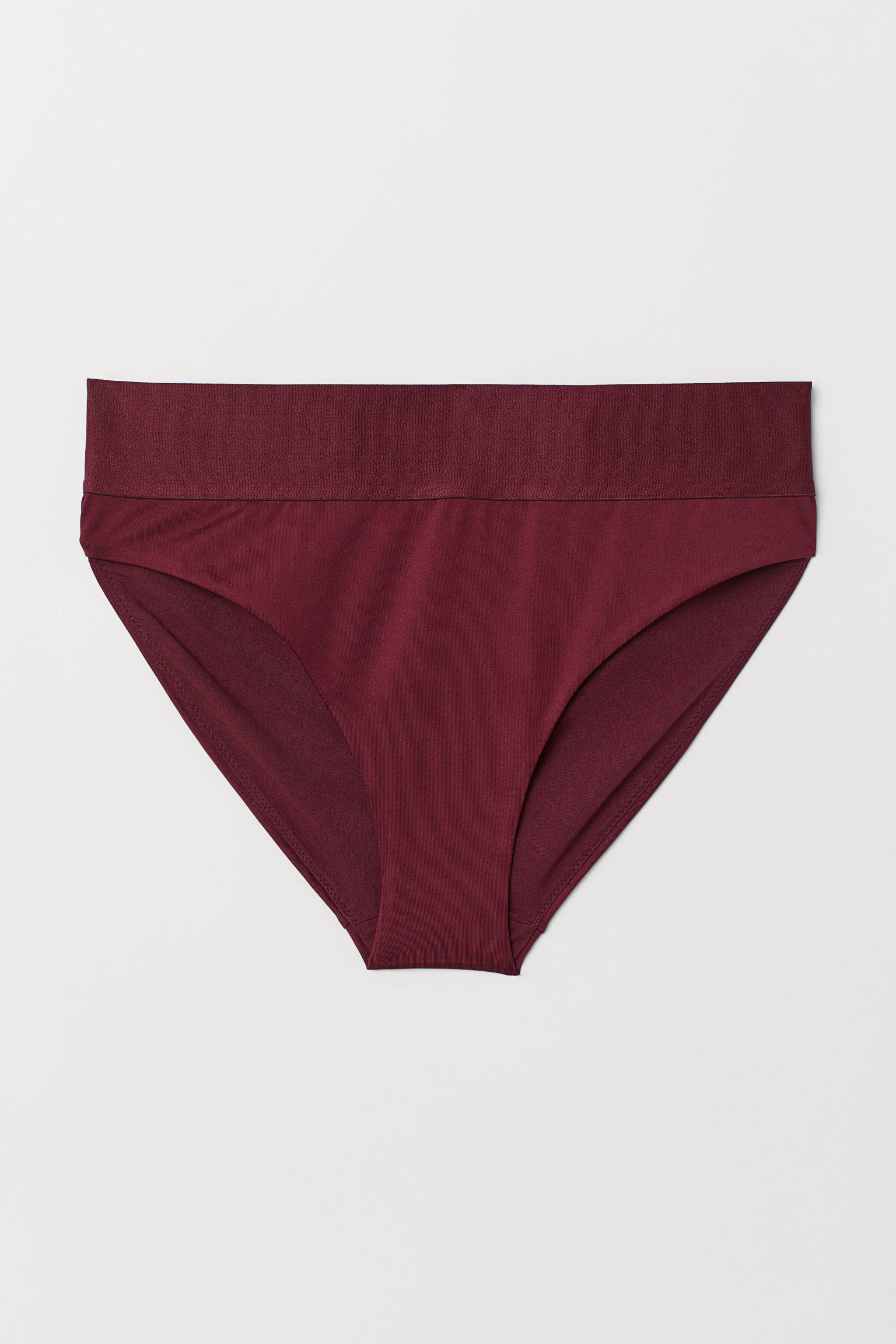 3bd965ad11076 High Rise Bikini Bottoms - Burgundy - Ladies | H&M US
