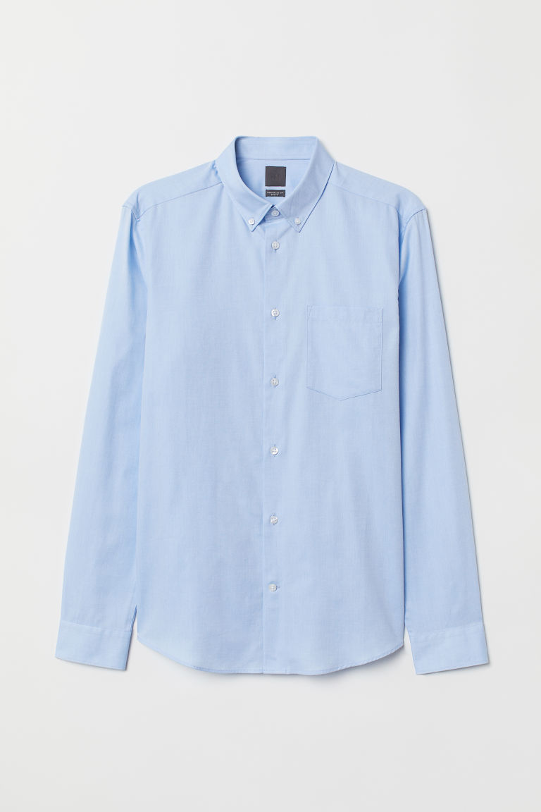 Premium Oxford Cotton Shirt - Light blue - Men | H&M CA