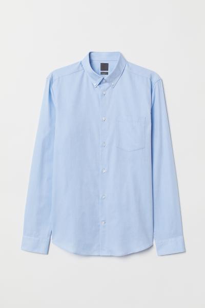 H&M - Camisa Oxford algodón premium - 5