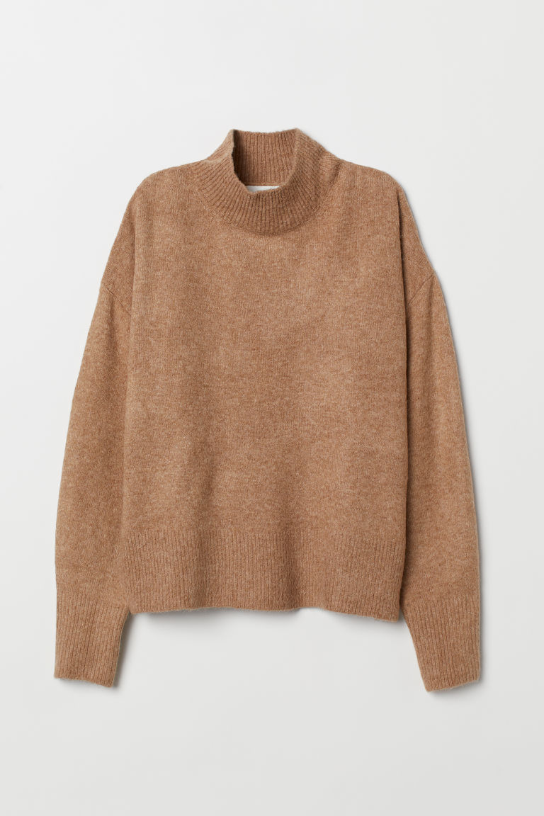 Fine-knit Sweater - Dark beige melange -  | H&M CA