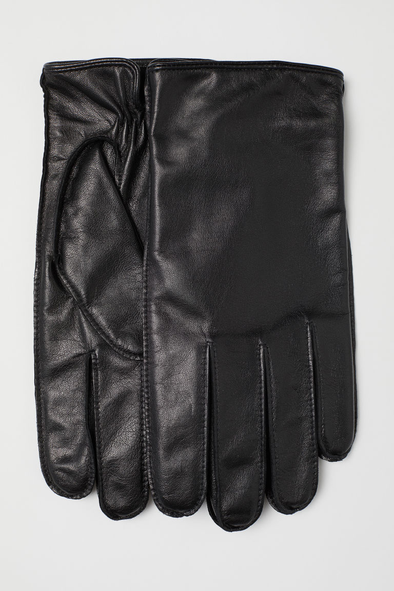 Leather smartphone gloves - Black - Men | H&M