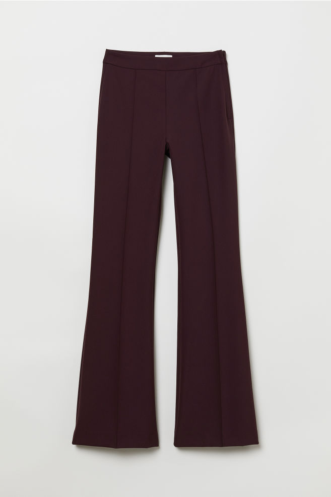 flared broek - bordeauxrood - dames | h&m nl