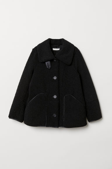 Pile jacket - Black - Ladies | H&M CN