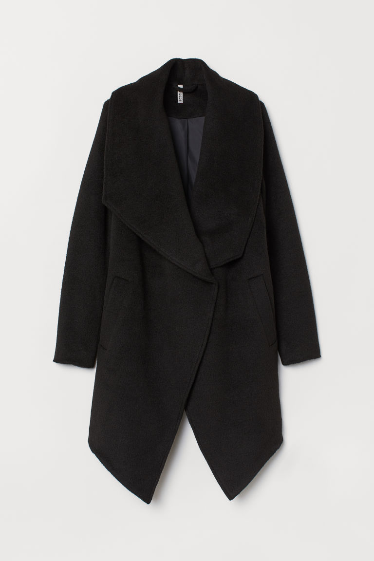 Double-breasted coat - Black -  | H&M