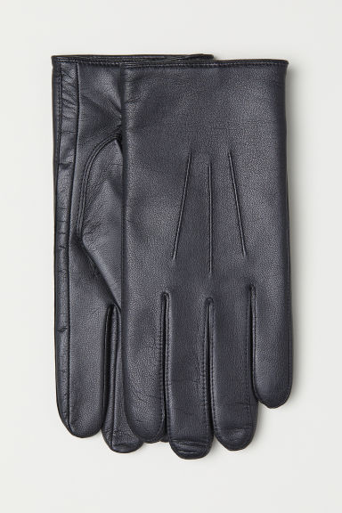 Leather Gloves - Black - Men | H&M US