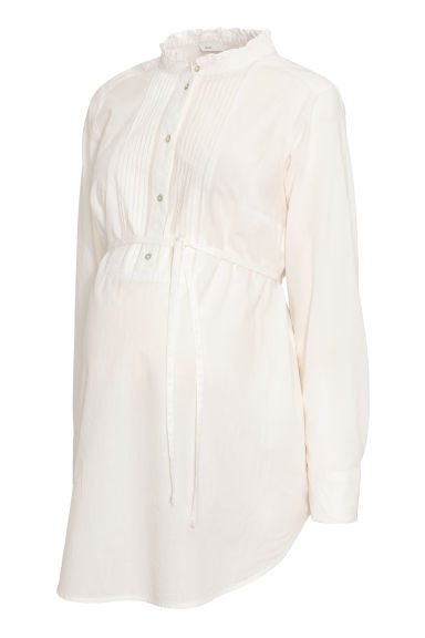 MAMA Cotton blouse - Natural white -  | H&M IE