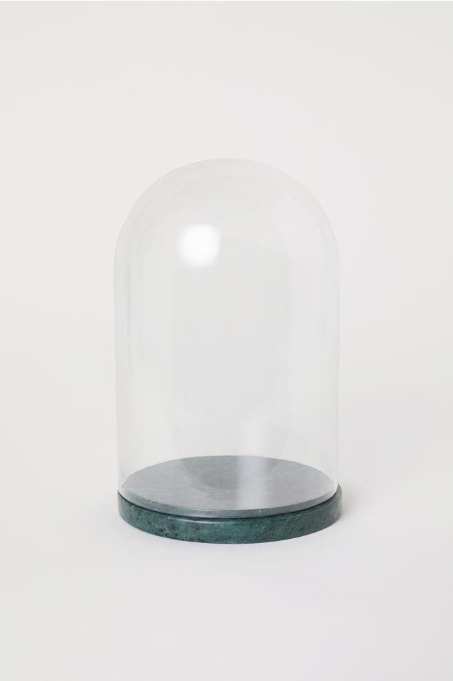 Forskjellige Kuppel i glass med marmorfot - Mørk grønn/Klart glass - Home All HD-27