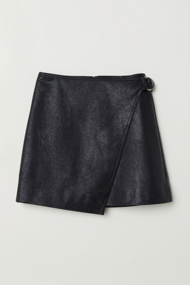 Short Wrap-front Skirt - Black - Ladies | H&M US