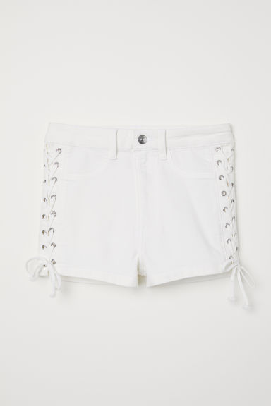 Shorts with Lacing - White -  | H&M US