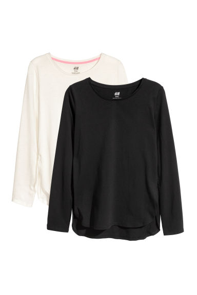 Set van 2 tops - Zwart/wit -  | H&M BE