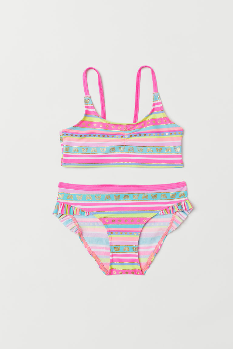 Stripet bikini - Cerise/Stripet - BARN | H&M NO