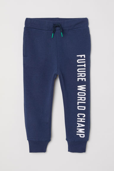 Printed joggers - Dark blue - Kids | H&M
