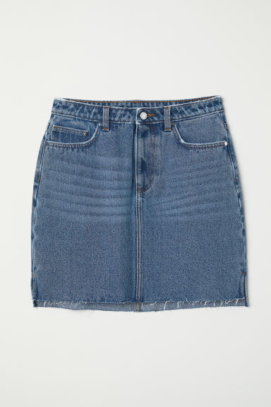 Denim skirt - Denim blue - Ladies | H&M CN