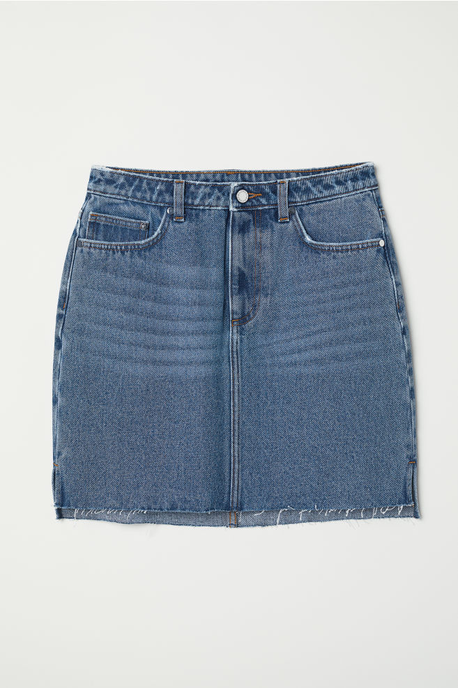 82f5f514c8 Denim Skirt - Denim blue - Ladies | H&M ...