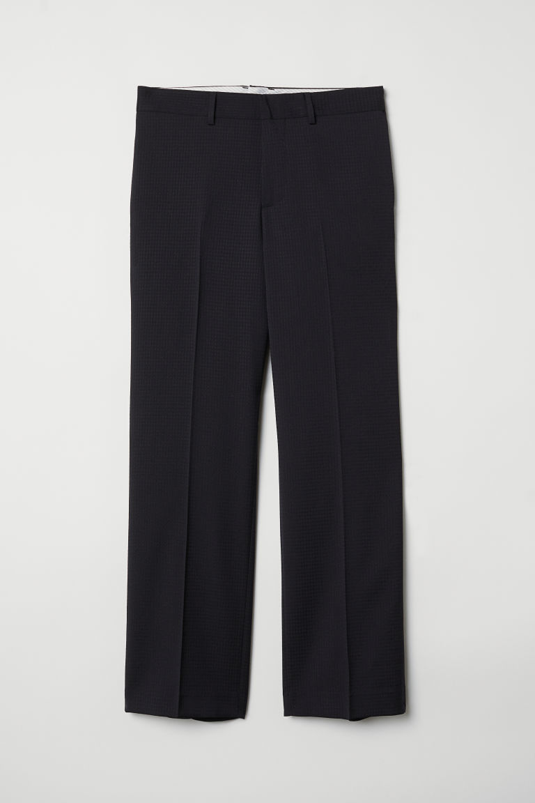 Wool suit trousers Relaxed fit - Black - Men | H&M