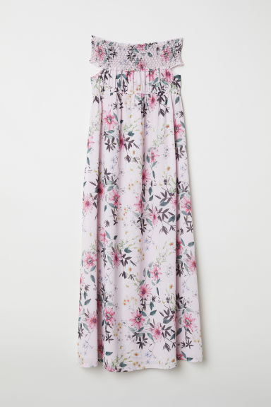 MAMA Off-the-shoulder dress - Light pink/Floral - Ladies | H&M