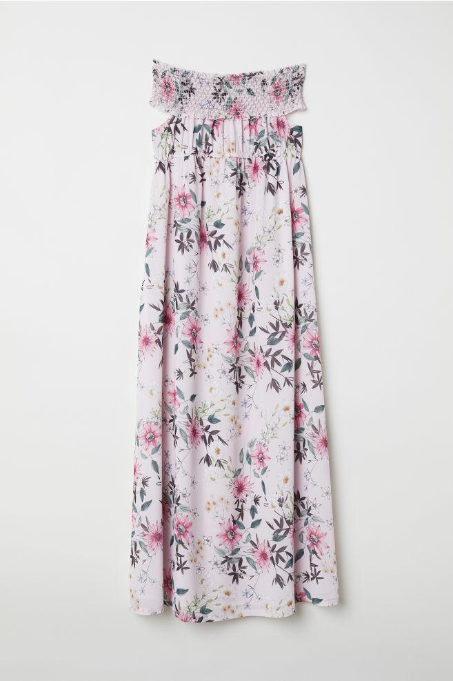 217b61cfca42 MAMA Off-the-shoulder dress - Light pink Floral - Ladies