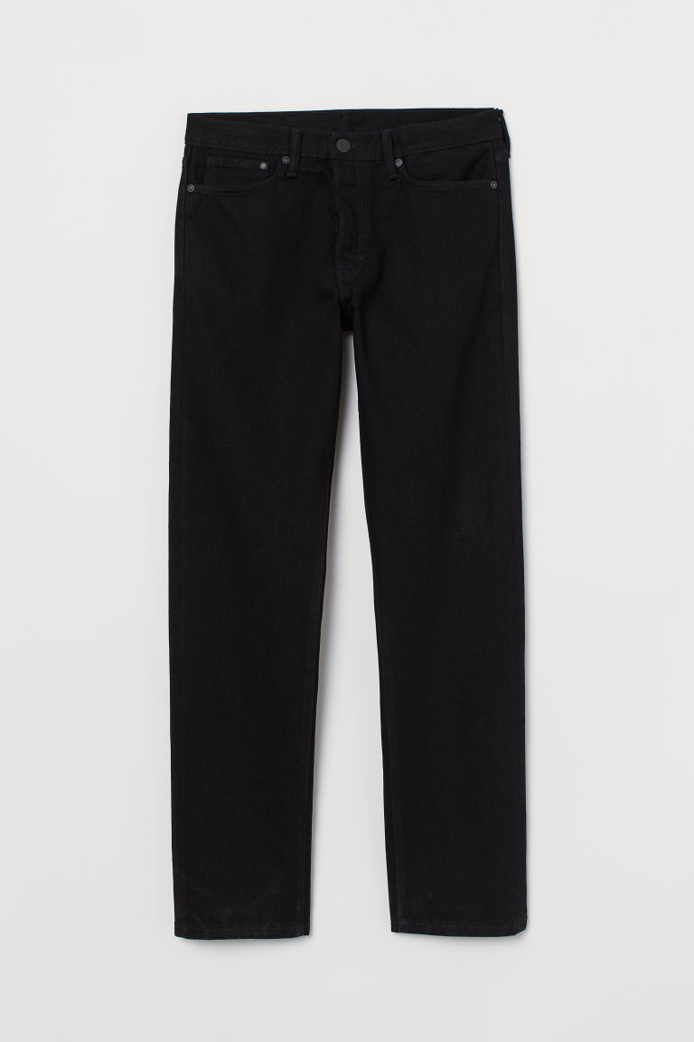 Straight Jeans - Noir - HOMME | H&M BE