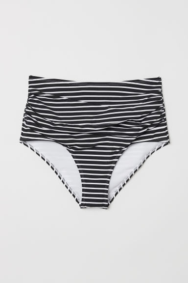 H&M+ Bikini bottoms High waist - Black/Striped - Ladies | H&M CN