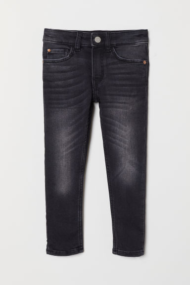 Super Soft Skinny Fit Jeans - 牛仔黑 - Kids | H&M CN