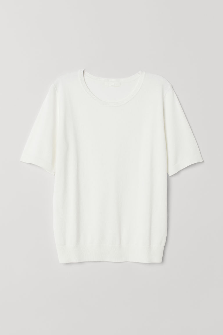Fine-knit jumper - White - Ladies | H&M