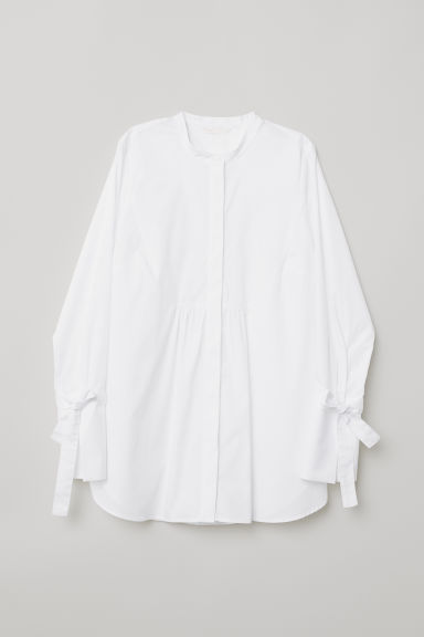 MAMA Cotton shirt - White - Ladies | H&M CN