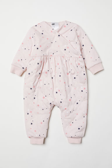 Padded all-in-one pyjamas - Light pink/Stars - Kids | H&M