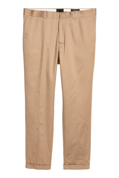 Suit trousers Skinny fit - Beige - Men | H&M