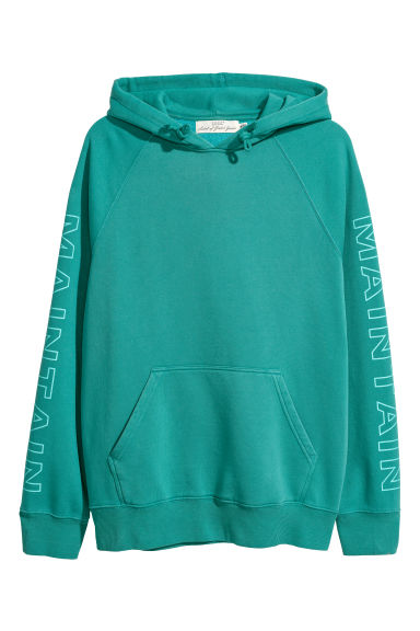 Hooded top with raglan sleeves - Turquoise - Men | H&M