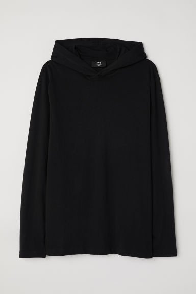 Hooded top Loose fit - Black -  | H&M CN