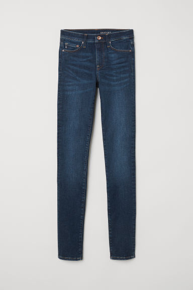 Shaping Skinny Regular Jeans - Blu denim scuro rugged rinse - DONNA | H&M IT