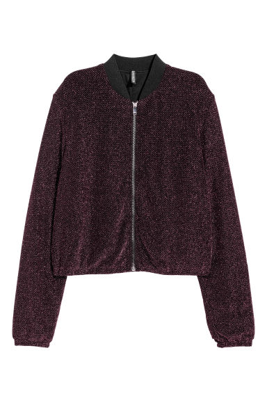 Short jacket - Black/Pink glittery - Ladies | H&M
