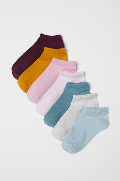 7-pack trainer socks - Mustard yellow - Kids | H&M