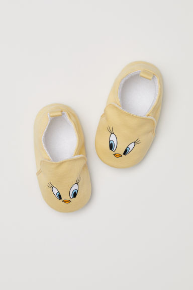 Slippers - Light yellow/Looney Tunes - Kids | H&M