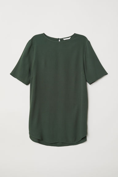 Crêpe top - Dark green - Ladies | H&M