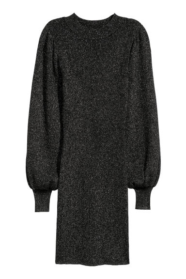 Glittery dress - Black/Glittery -  | H&M