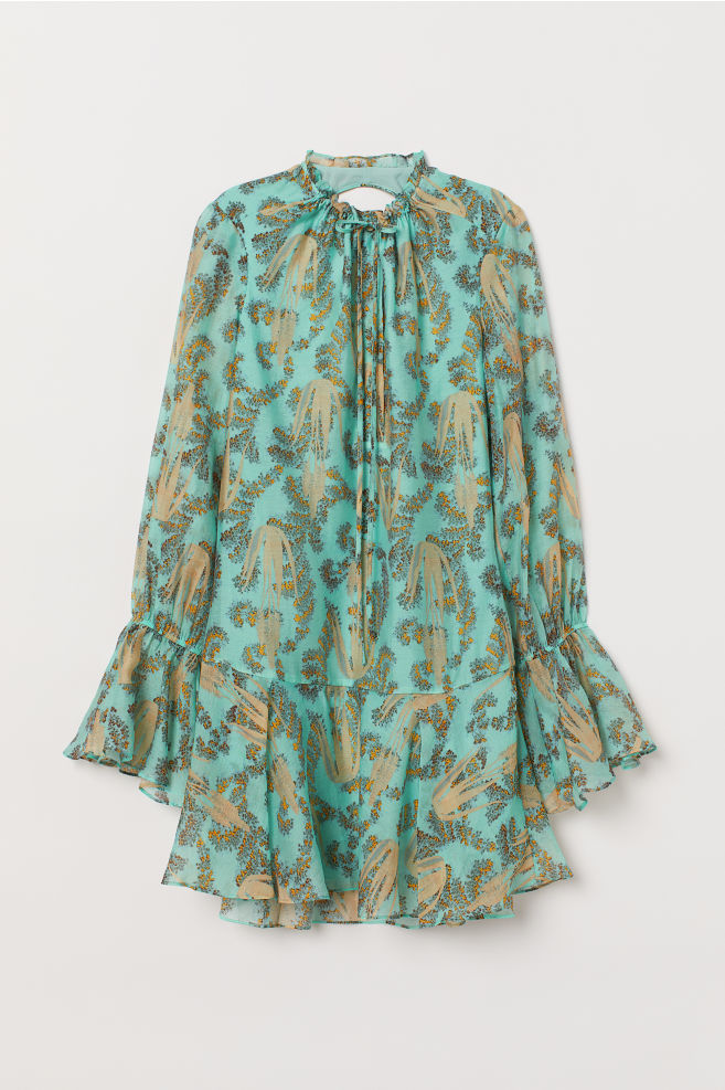 bde375c22b07 ... Šaty zo zmesi lyocellu - tyrkysová vzorovaná - ŽENY