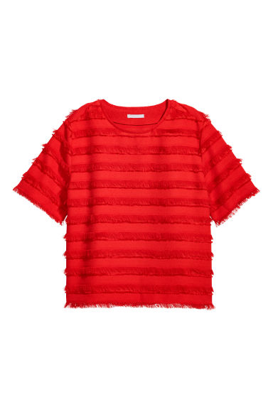 Top with fringes - Bright red - Ladies | H&M