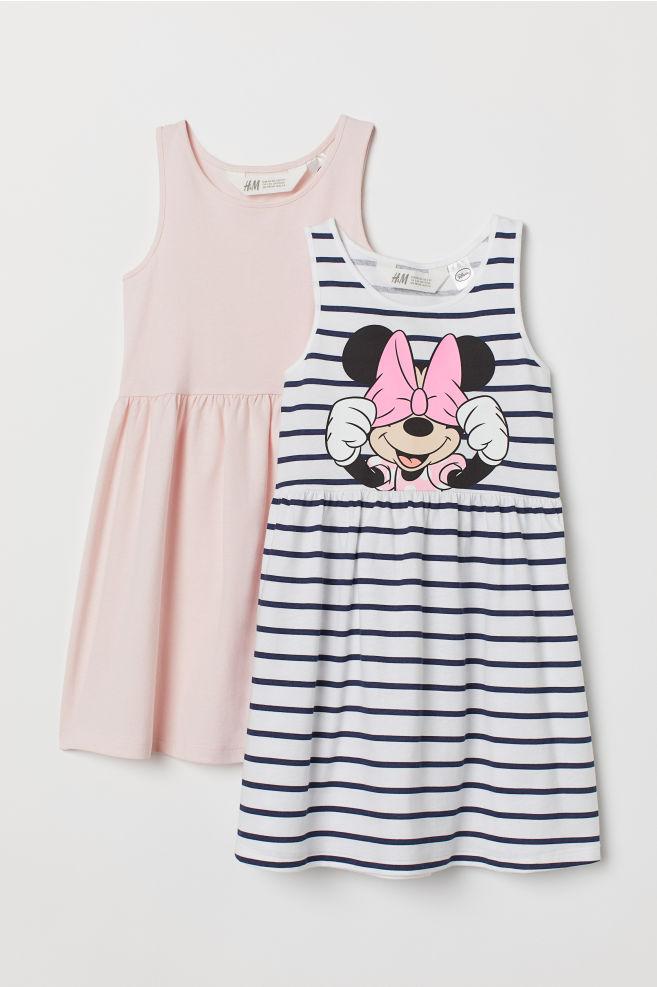 4769cfc200fd 2-pack Jersey Dresses - Light pink/Minnie Mouse - Kids | H&M CA