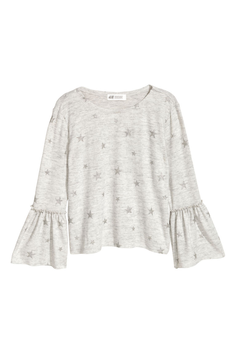 Fine-knit jumper - Light grey marl - Kids | H&M CN