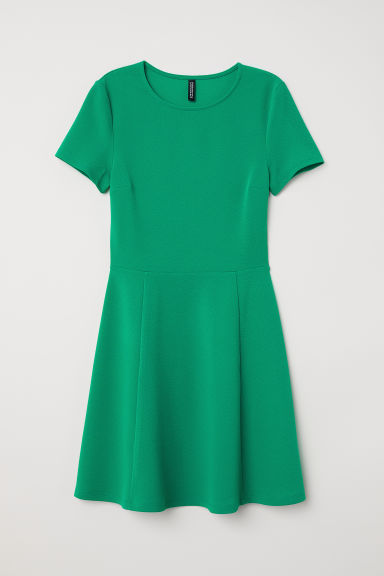 2cfc9394199 Jersey Dress - Bright green - | H&M US
