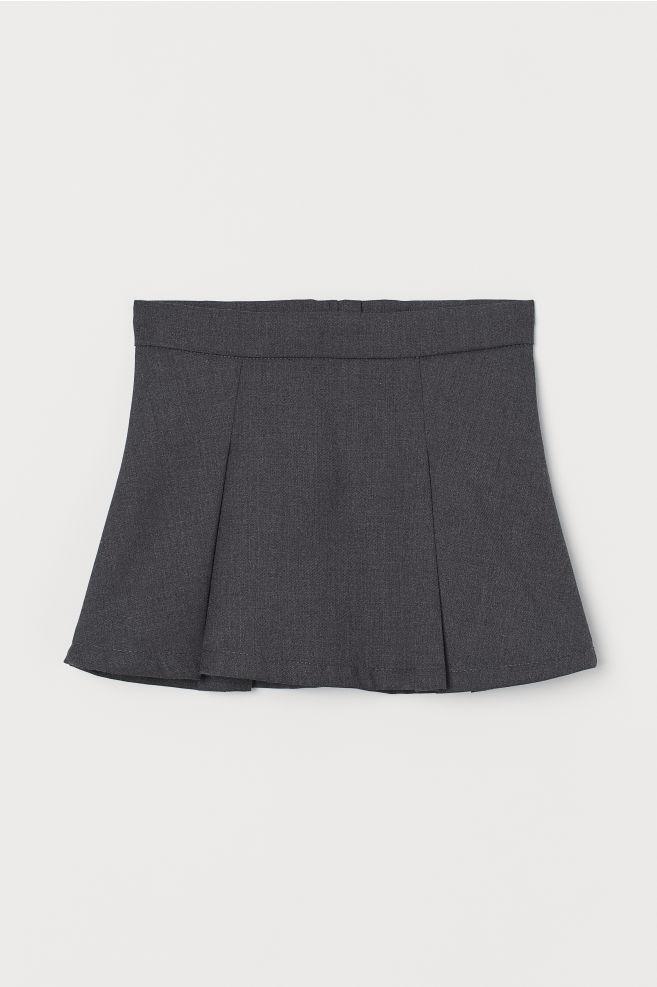 c4d3036761 Pleated skirt - Dark grey marl - Kids | H&M ...