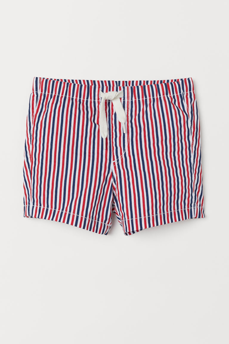 Shorts de algodón - Blanco/Rayas multicolor - Kids | H&M MX