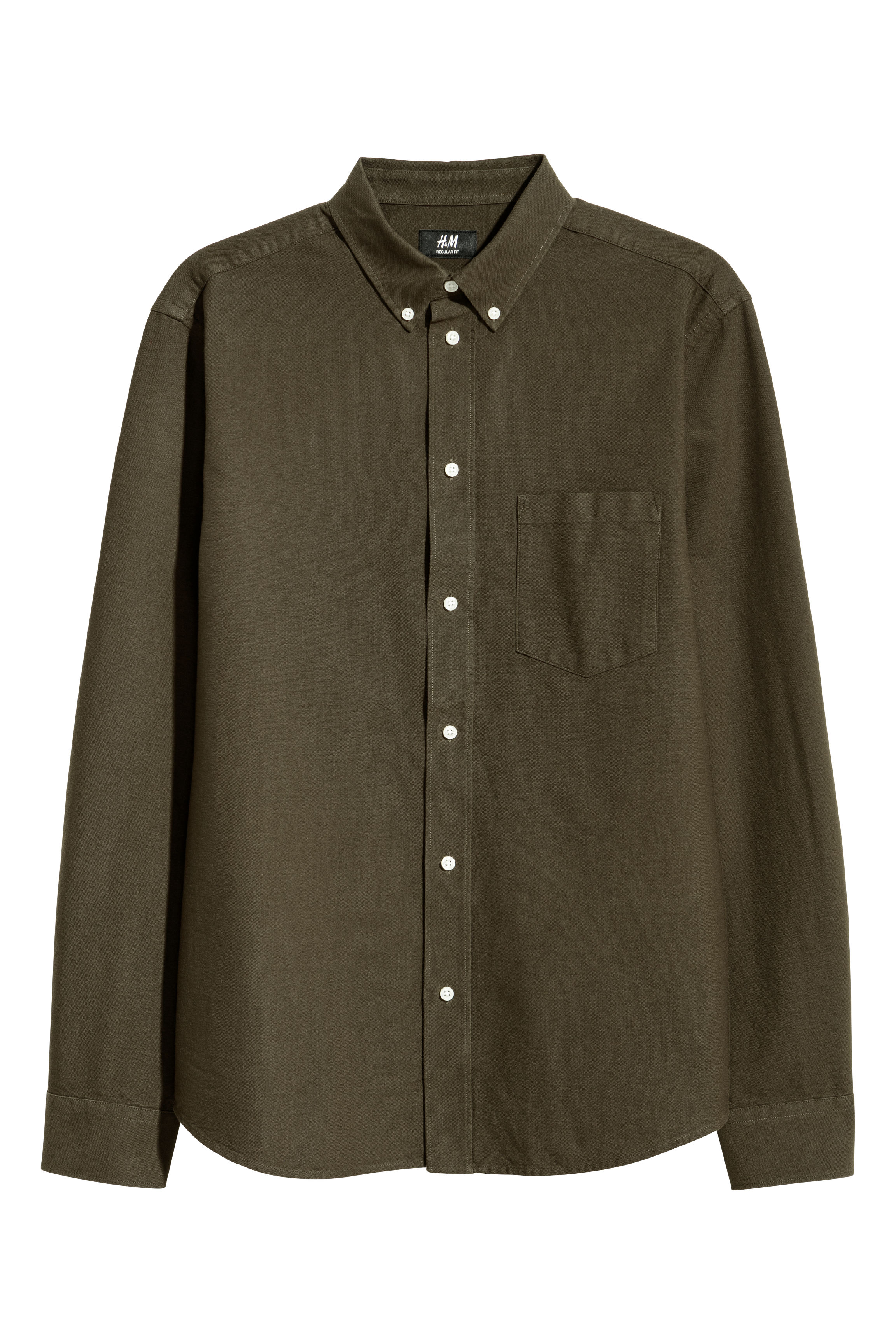 Oxfordskjorta Regular fit - Vit - HERR  343e019788812