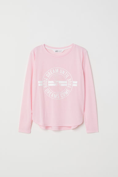 Printed jersey top - Light pink/Dream - Kids | H&M
